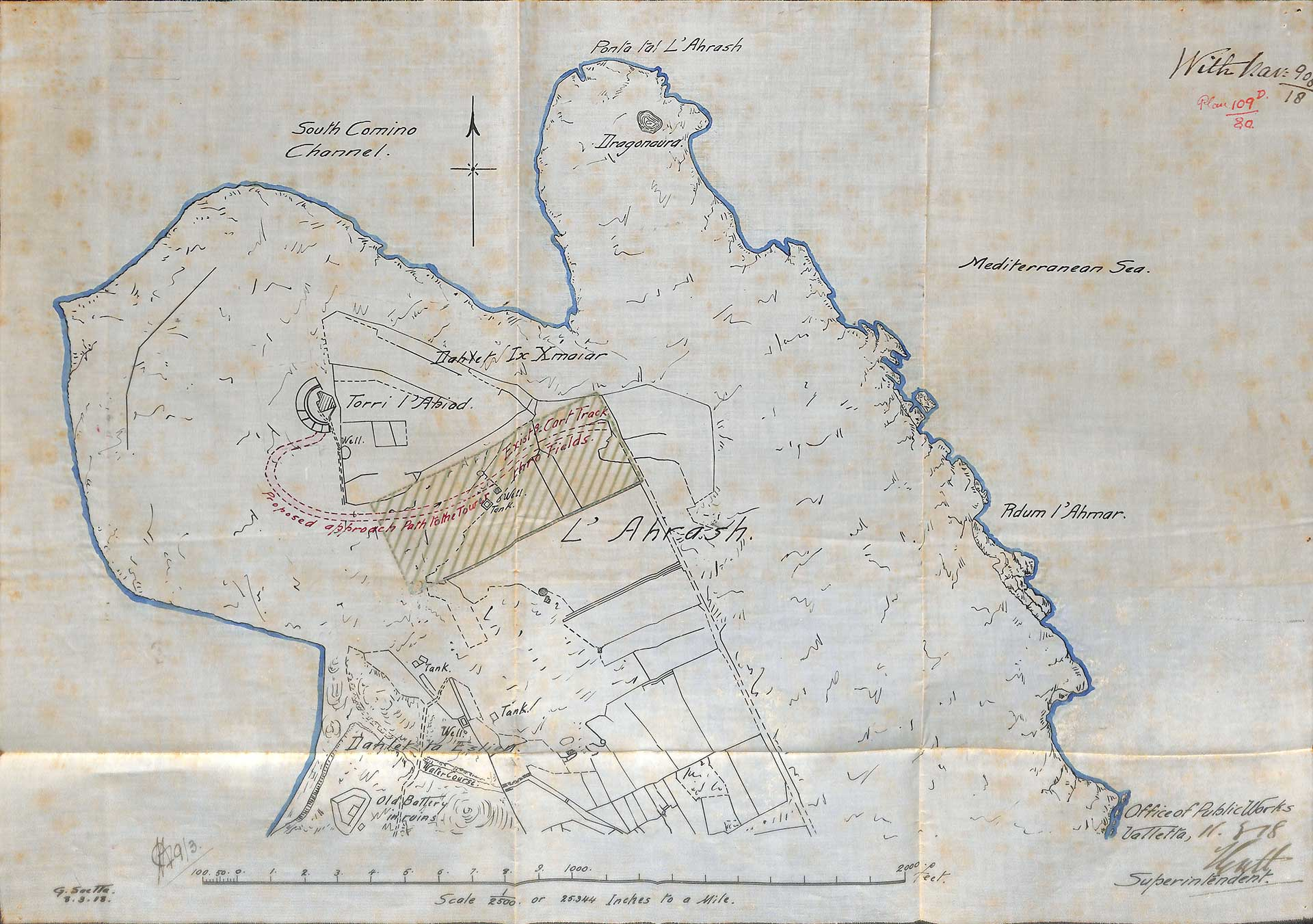 1918 plan for Naval Authority (National Archives Rabat)