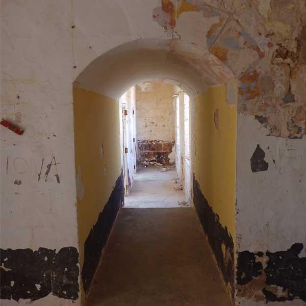 Corridor British additions above the blockhouse