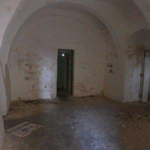 Interior of blockhouse